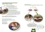Beispielseiten aus dem Unterrichtsheft - Tierschutz macht Schule