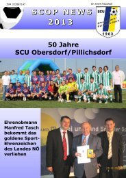 SCOP NEWS 2013 - SCU Obersdorf-Pillichdorf
