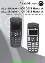 Alcatel-Lucent 400 DECT Handset Alcatel-Lucent 300 DECT Handset