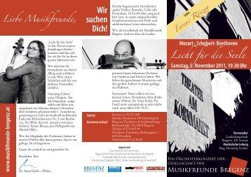 Wir suchen Dich! - Musikfreunde Bregenz