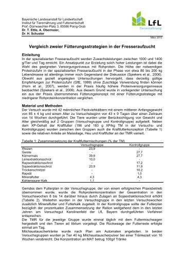 Vergleich zweier Fütterungsstrategien in der Fresseraufzucht 89 KB