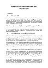 Allgemeine Geschäftsbedingungen (AGB) der yasp.at gmbh