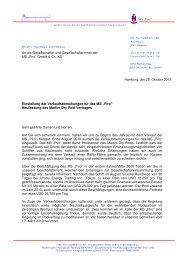 26.10.2010 Gesellschafterrundschreiben Piro wg. Vertragsänderung ...