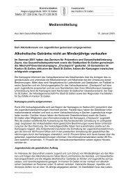 Alkoholische Getränke nicht an Minderjährige ... - Kanton St.Gallen