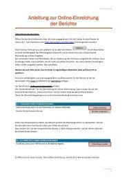Anleitung zur Online-Einreichung der Berichte - NA-BIBB