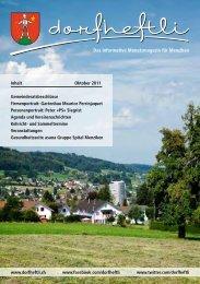 Das informative Monatsmagazin für Menziken - dorfheftli