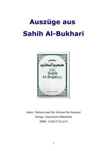 Auszüge aus Sahih Al-Bukhari - NURSEMA