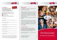 Bundeskongress 2011: Flyer zum GTÜ-Kinderparadies