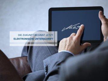 Anleitung elektronische Unterschrift
