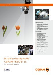 Brillant & energiegeladen OSRAM KREIOS® SL