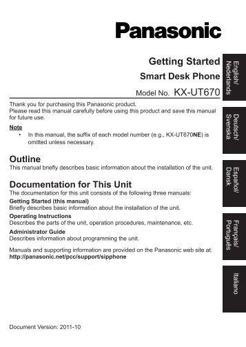 KX-UT670NE_Getting Started - Sipgate