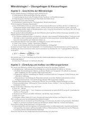 Mikrobiologie I – Übungsfragen & Klausurfragen - Dein-willi.de
