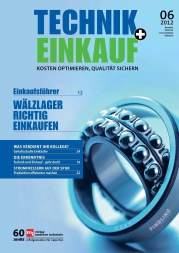 Ausgabe 6 / 2012 - technik + EINKAUF