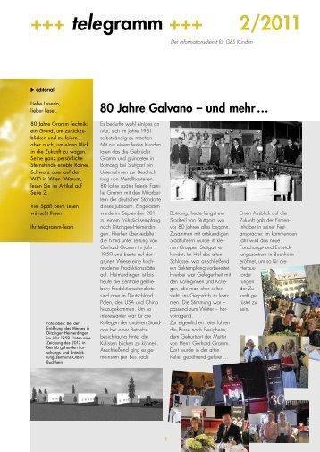 Telegramm D 2011/02 PDF 200 KB - Gramm Technik