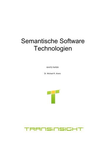 Semantische Software Technologien - Transinsight