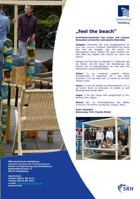 """feel the beach"" - SRH Hochschule Heidelberg"