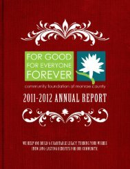 2012 Annual Report - Community Foundation of Monroe County
