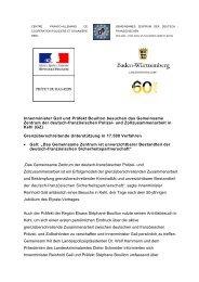 Innenminister Gall und Präfekt Bouillon besuchen das Gemeinsame ...