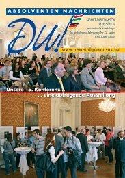 ABSOLVENTEN NACHRICHTEN Unsere 15. Konferenz… - Német ...