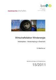 Studie Wirtschaftsfaktor Windenergie - IG Windkraft