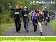 Sponsoren und Partner - Oxfam Trailwalker