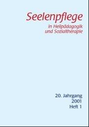 Seelenpflege - Konferenz für Heilpädagogik und Sozialtherapie