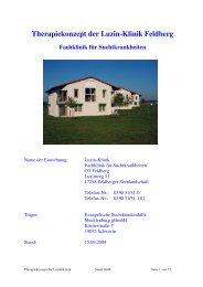 Therapiekonzept der Luzin-Klinik Feldberg Fachklinik für ...