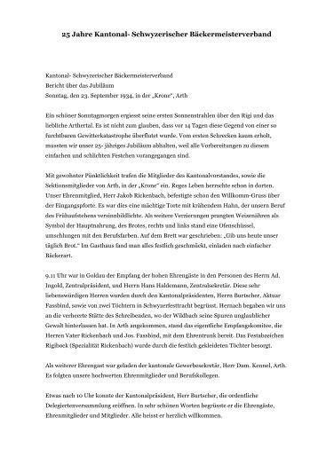 7.a) 25 Jahre Kantonal- Schwyzerischer Bäckermeisterverband