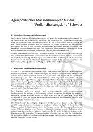 Massnahmenplan - Schweizer Tierschutz STS
