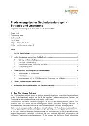 Praxis energetischer Gebäudesanierungen - Strategie und Umsetzung