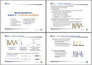 Mobilkommunikation Kapitel 2: Technische Grundlagen