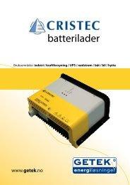 CRISTEC batterilader - getek as