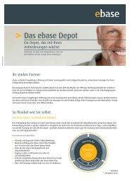Das ebase Depot - AVL Finanzdienstleistung Investmentfonds