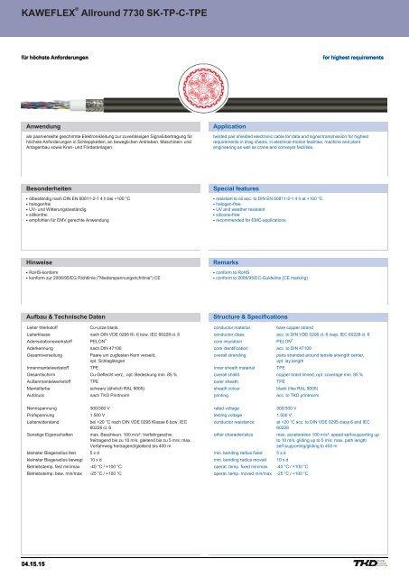 KAWEFLEX® Allround 7730 SK-TP-C-TPE UL/CSA - TKD KABEL ...