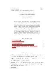 Prof. Dr. S. Friedl Seminar Euklidische und Nichteuklidische ...