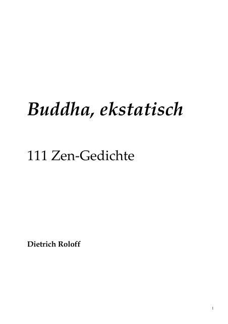 Buddha Ekstatisch Zen Gedichte