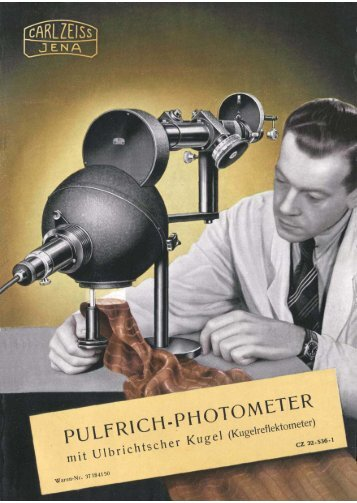 Pulfrich-Photometer mit Ulbrichtscher Kugel - Optik-Online
