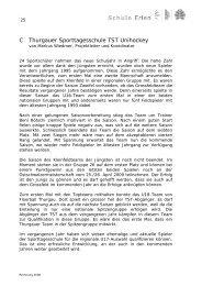 C Thurgauer Sporttagesschule TST Unihockey - Schule Erlen