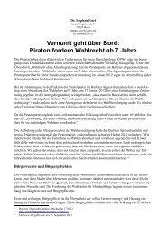Piraten: Wahlrecht ab 7 Jahren - Stephan Eisel