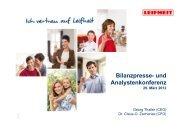 Bilanzpresse- und Analystenkonferenz 29. März 2012 - Leifheit