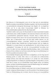 Prof. Dr. Karl-Heinz Lembeck Universität Würzburg, Institut für ...