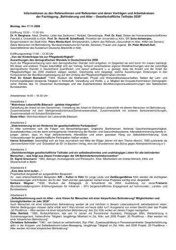 Informationen zu den Referentinnen und Referenten ... - Wolfsburg AG