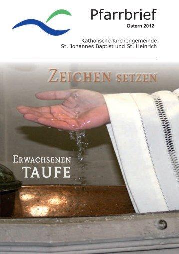 Zeichen setzen - kath. Pfarrgemeinde St. Johannes Baptist & St ...
