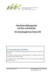 Checkliste Bildungsziele auf dem Lehrbetrieb für Gemüsegärtner ...