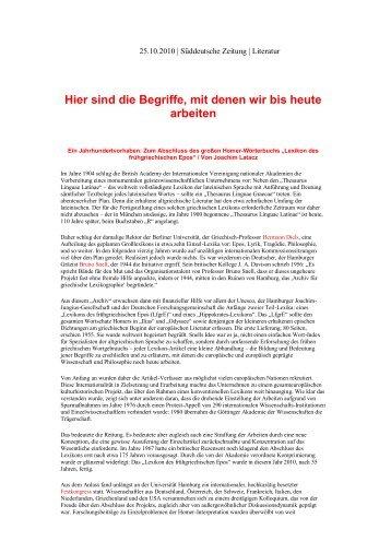 Süddeutsche Zeitung - Fachbereich Philosophie und ...