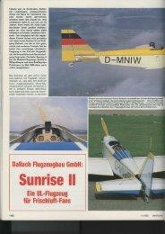 """""""Sunrise II"""" Ein UL-Flugzeug für Frischluft-Fans - Flieger-gruess-mir ..."""