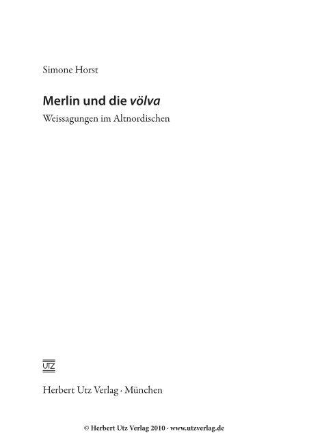 und Einleitung (103 KB) - Herbert Utz Verlag GmbH