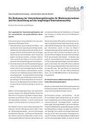 Die Bedeutung der Unternehmensphilosophie für ... - gfmks