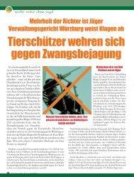 Recht: Natur ohne Jagd - Magazin Freiheit für Tiere