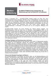Medien- mitteilung - glassolutions